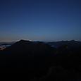 65 空が白み始めた日光連山