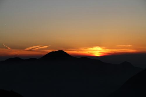 62 女峰山より夕景4
