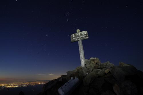 63 女峰山頂の夜景