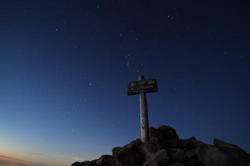 64 女峰山頂とオリオン